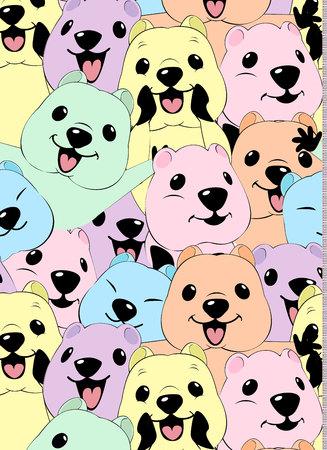 quokka pattern illustration style Flat