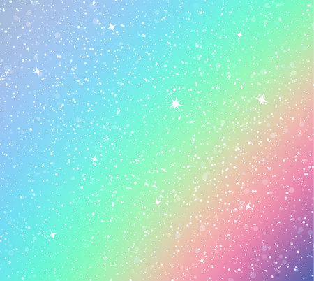 background with rainbow and stars