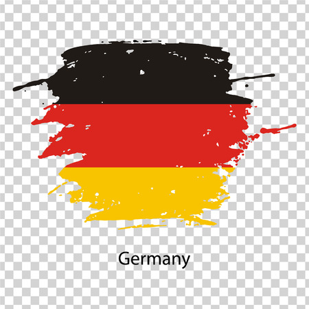 germany flag in the form of a paint stain on a transparent background