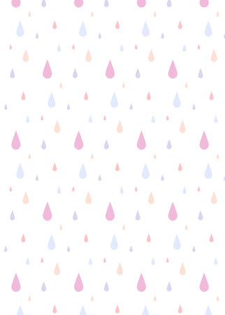 Rain pattern of color falling in isolated background. Vector illustration.