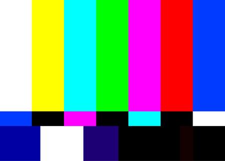 illustrazione vettoriale del modello di prova della televisione retrò Vettoriali