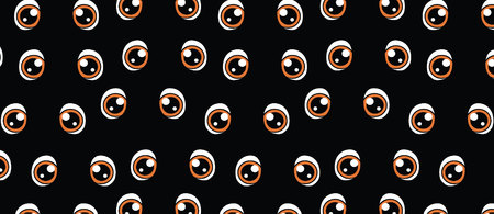pattern with eyes on a black background Banque d'images - 124785160