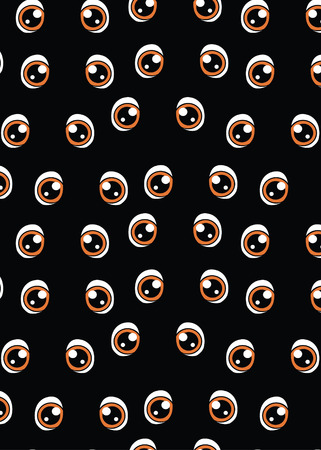 pattern with eyes on a black background Banque d'images - 124785161