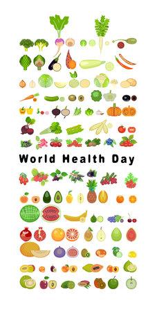 World health day banner. Flat design