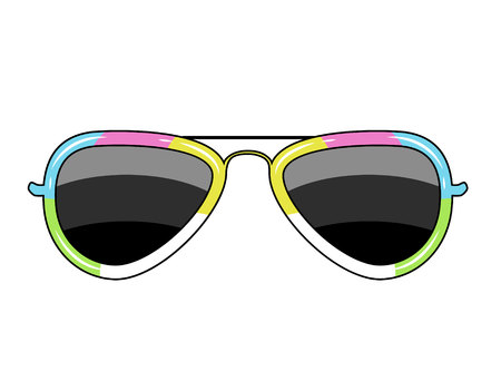 glasses with a frame of the color of the rainbow Illustration