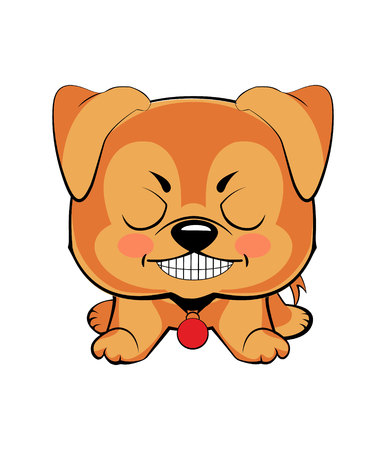 Vector illustration of Angry puppy 矢量图像