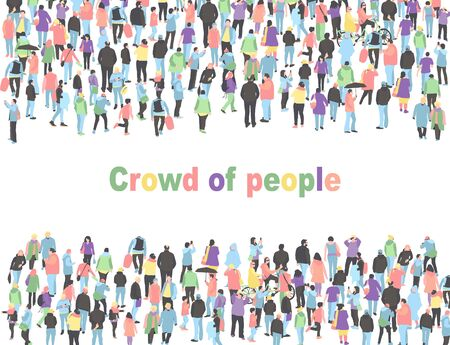 frame for text with different people. Crowd of people