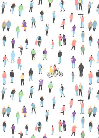 pattern with crowd of People