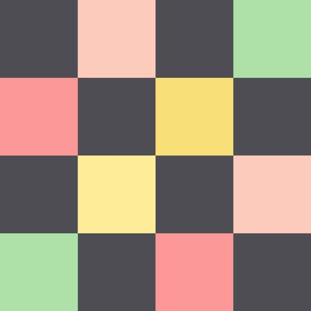 pattern with multicolored squares.