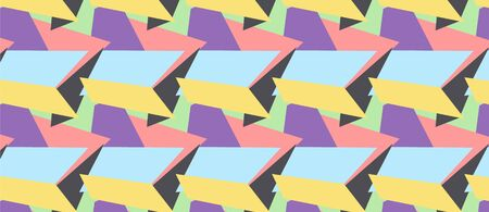 pattern with multicolor shapes for design