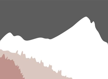 Vector illustration of mountain landscape. snow ice tops and decorative isolated.