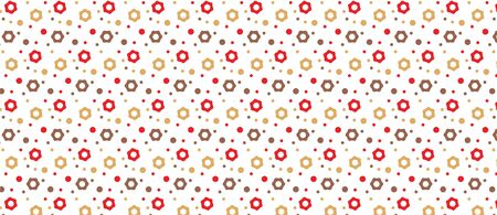 pattern flowers and circles simple pattern Illustration