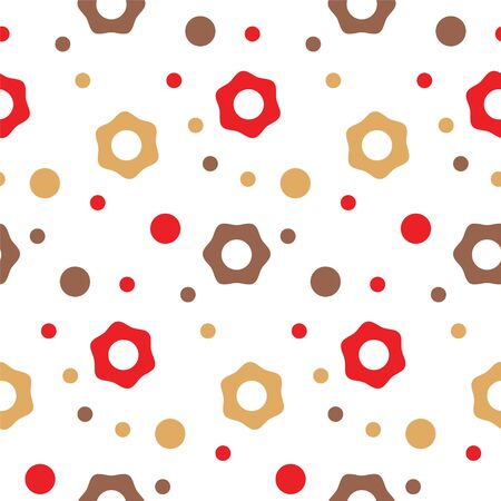 pattern flowers and circles simple pattern Stock Vector - 136534132