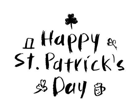 Saint Patricks Day Typographical