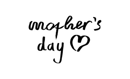mothers day hand lettering handmade calligraphy Ilustrace