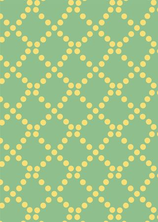 pattern with yellow circles on a green background.