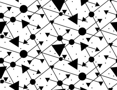 pattern with black circles and triangles