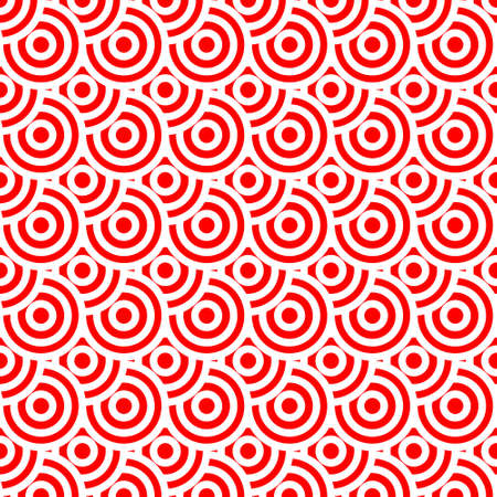 japanese pattern red