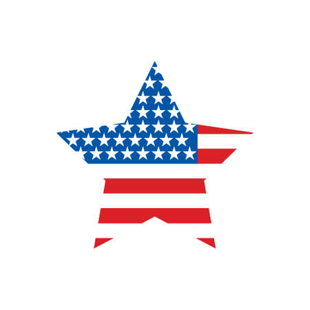 USA flag star 矢量图像
