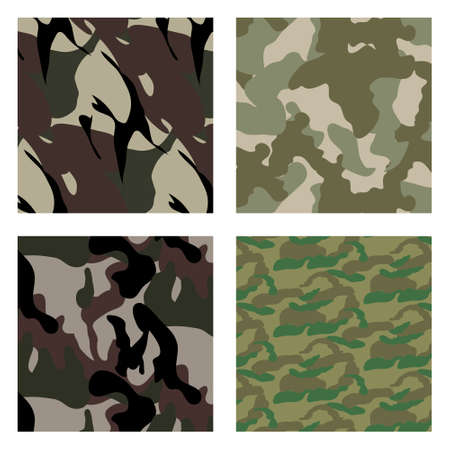 set Fashionable camouflage pattern