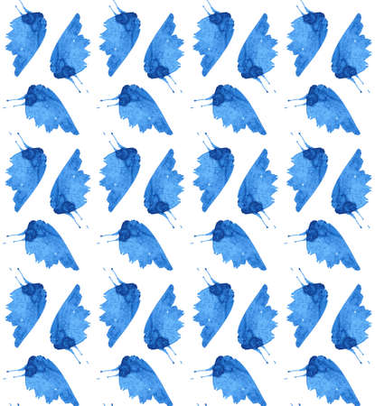 butterflies pattern.  floral illustration on white background