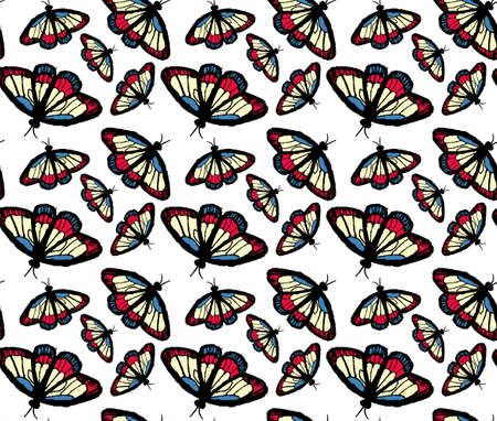 hand draw butterfly pattern.