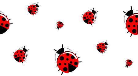 Ladybug Pattern Vettoriali