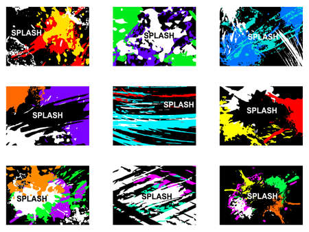 Collection of vector creative artistic cards. Abstract watercolor hand drawn, hand painted advertising design cards. Poster, placard, leaflet, banner, business card isolated.