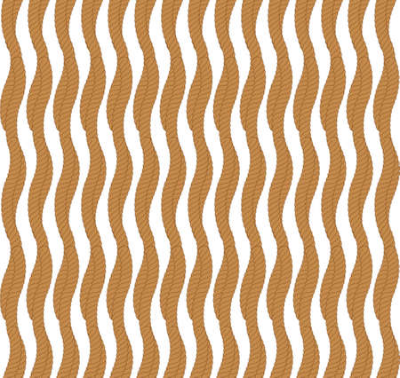 Vector seamless pattern with rope Symmetrical background Graphic illustration. 矢量图像
