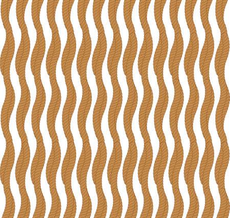 Vector seamless pattern with rope Symmetrical background Graphic illustration. Ilustração