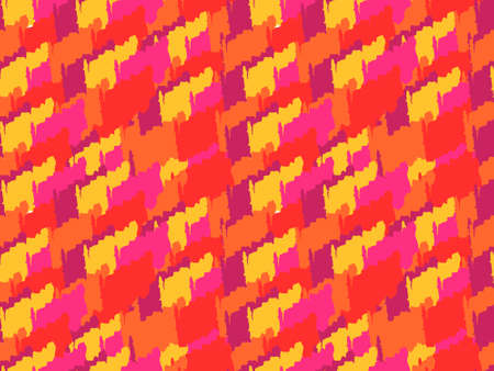 Abstract camouflage pattern. Seamless vector wallpaper.Colorful background. Ilustração