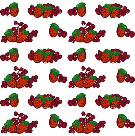 Strawberry fruits. Fresh strawberries set. Ilustração