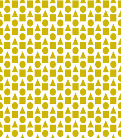 Yellow vector background with triangles, circles, cubes. Illustration with set circles, triangles, squares. 矢量图像