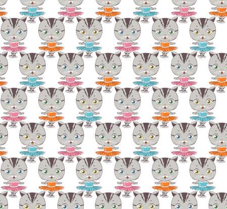 cat ballerina pattern. dancing cat.