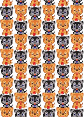 dog pattern. Cute cartoon dog. Children s illustration. Funny baby animal. Vector illustration Ilustração