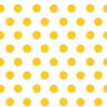 Sunny orange vector seamless pattern
