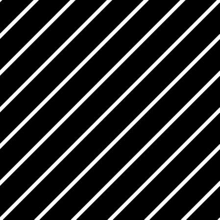 Simple seamless striped pattern, straight diagonal lines, black and white texture