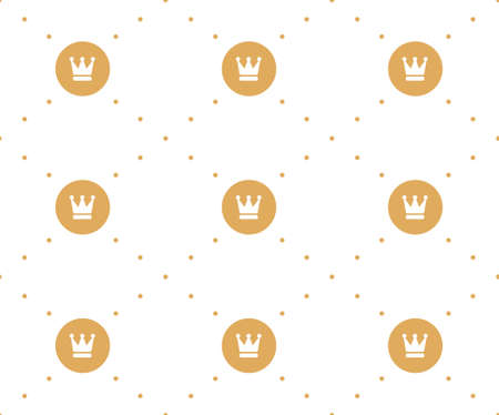 Vector seamless retro pattern, with crowns. Can be used for wallpaper, pattern fills, web page background,surface textures 矢量图像