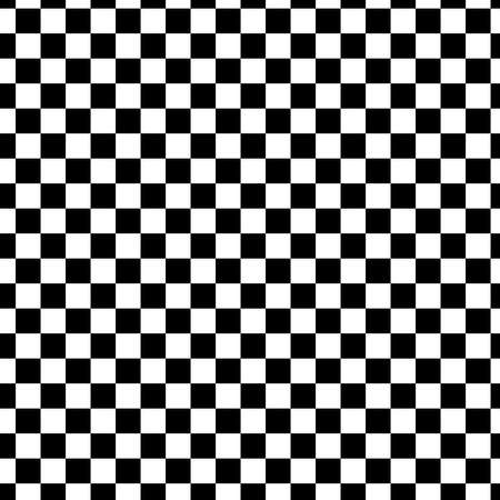 black and white racing and checkered pattern background. Seamless black and white tile 矢量图像