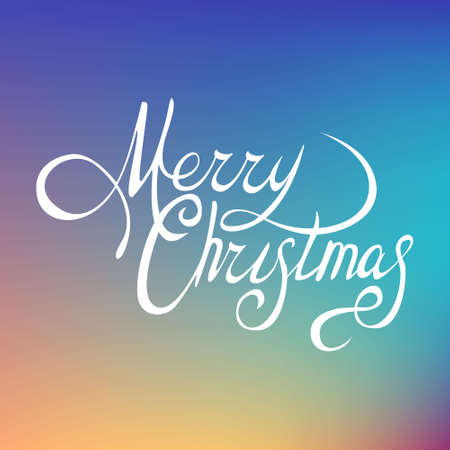 Merry Christmas vector text Calligraphic Lettering design card template.