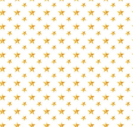 Star pattern. white, background, gold, gift wrap. Vector illustration. 矢量图像