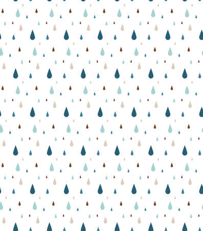 Rain. Seamless vector pattern 矢量图像