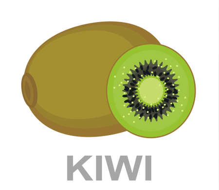 Kiwi icon entirely and in a cut