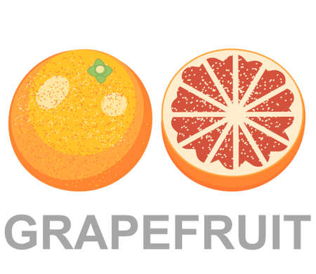 grapefruit icon entirely and in a cut