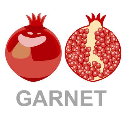 garnet icon entirely and in a cut 向量圖像