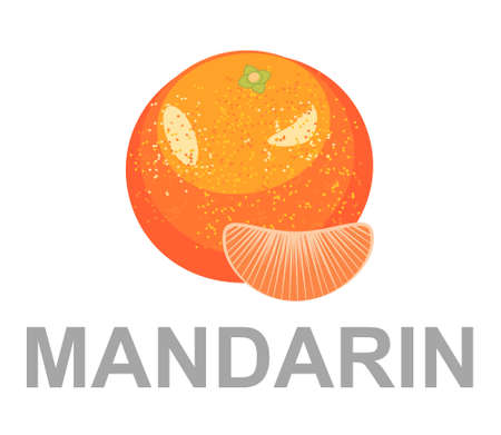 mandarin icon entirely and in a cut