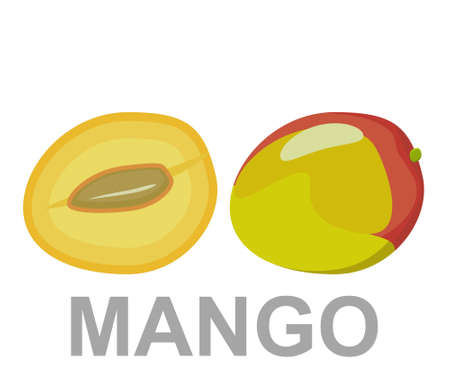 Mango icon entirely and in a cut