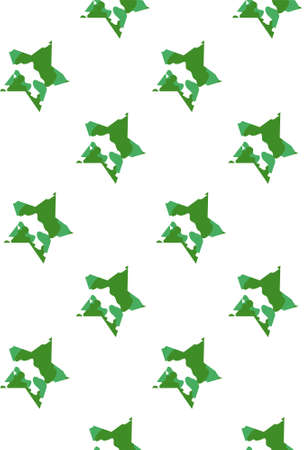 star pattern with camouflage pattern