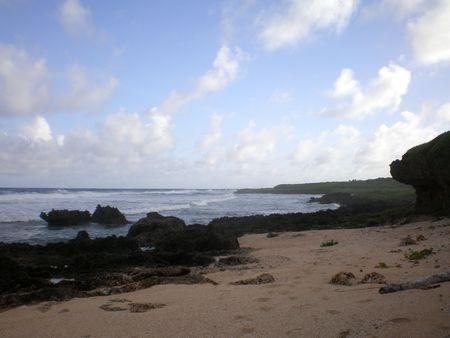 guam: GUAM BEACH NOMNA Stock Photo