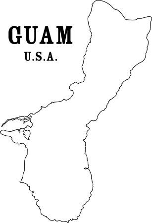 guam: guam map Illustration